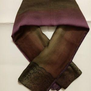 Cotton square scarf